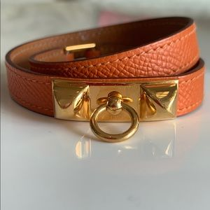 Hermès Leather Wrap Bracelet